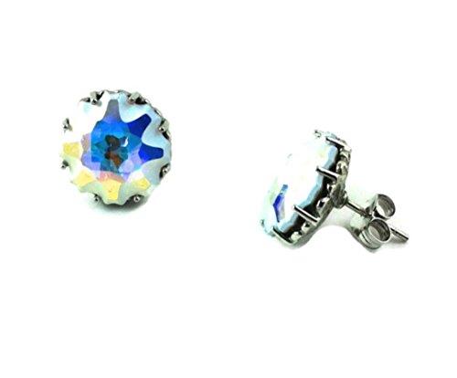 PENDIENTES ESTRELLA PLATA Crystal Swarovski 6 A260 PRE-B