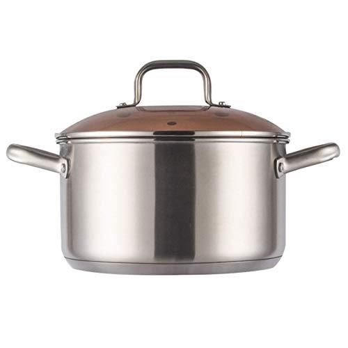 zyl Olla para cocinar al Vapor Olla para Sopa de Acero Inoxidable Olla para cocinar al Vapor Olla para cocinar Utensilios de Cocina al Vapor Olla para Caldera para Cocina Otros Alimentos