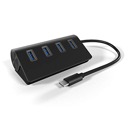 CATECK Type C USB Hub, 4 Ports USB C to USB 3.0 Hub Adapter, USB 3.1 Gen2 Hub for MacBook Pro/Air 2020/2019, iPad Pro, Dell, Chromebook and More