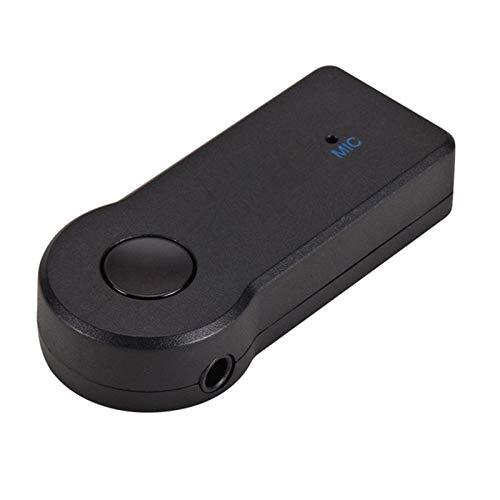 Dmtrab para 2 en 1 Adaptador de Metal Auxiliar de 3.5 mm + Coche USB Bluetooth 4.1 Receptor Bluetooth inalámbrico Convertidor de Receptor de Audio (Negro)