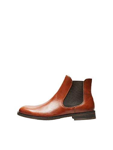 Selected Louis Leather Chelsea Bottines/Boots Hommes Cognac - 43 - Boots