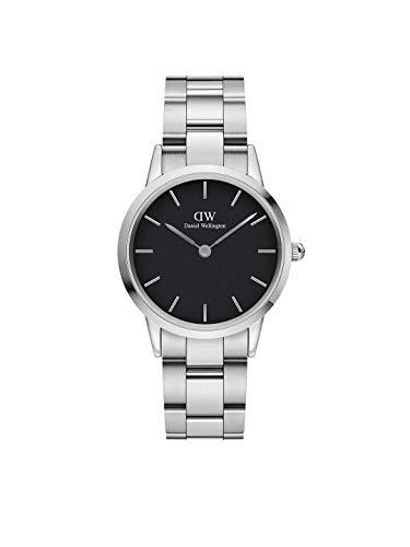 Daniel Wellington Iconic Link, Silber Uhr, 32mm, Edelstahl, für Damen