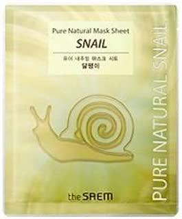 the saem pure natural mask sheet snail