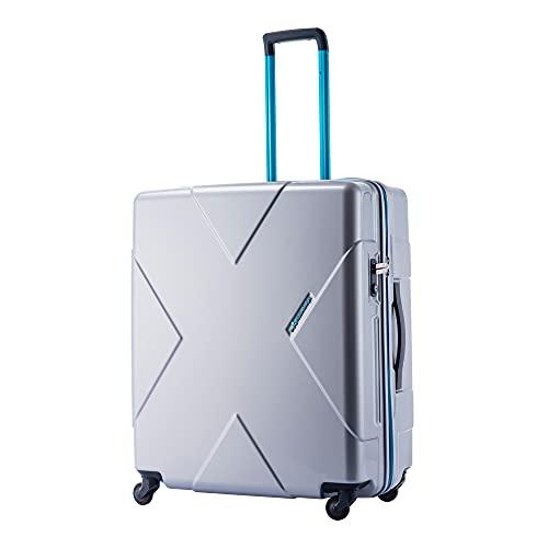 最大級容量無料飛行機預け可能 HIDEO WAKAMATSU メガマックス (シルバー) 105L スーツケース トランクキャリー キャリーケース キャリーバッグ