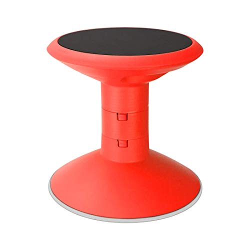 "Storex Wiggle Stool Adjustable Height 12"" 14"" 16"" or 18"" for Active Seating in The Classroom Red 00302U01C"