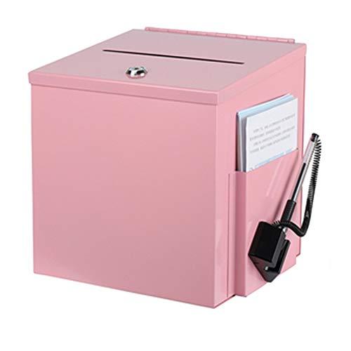 GYJ Wandmontierbarer Vorschlagskasten aus Stahl mit Schloss, Briefkasten, Schlüsselkarten, Safe, Wahlurne, Spendenbox, Lebensdauer über die Jahre
