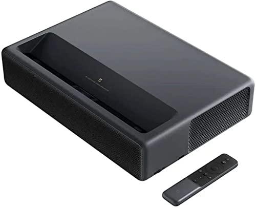 Proyector del proyector QOHG Proyector de Cine 2000 ANSI LUMENS 150 Pulgadas TV Proyector Entretenimiento Familiar (Color: Negro, Tamaño: 41.00 x 29.10 x 4,20 cm)