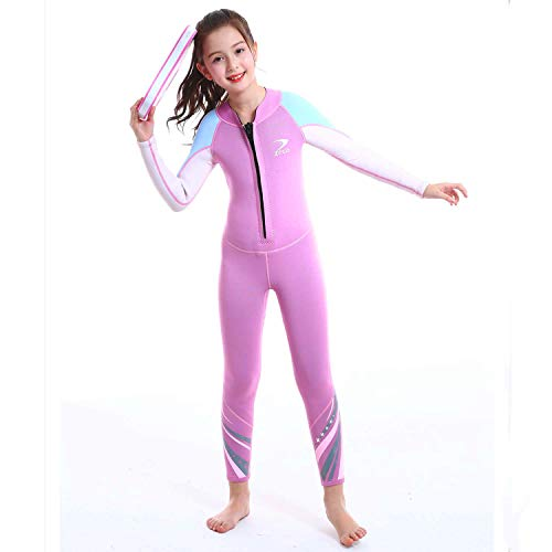ZCCO Kids Wetsuit,2.5mm Neoprene Thermal Swimsuit Wet Suits for Girls,Youth Girl