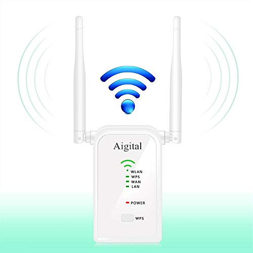 Hosome WiFi Range Extender 2.4GHz 300Mbps Signal Booster Support AP//Repeater//Router//Client 4 in 1 Mode with Dual Antenna,WPS Function and Complies IEEE802.11n//g//b