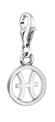 Nenalina Sternzeichen Charm Anhänger, Fische, 925 Sterling Silber für alle gängigen Charmträger 713292-000