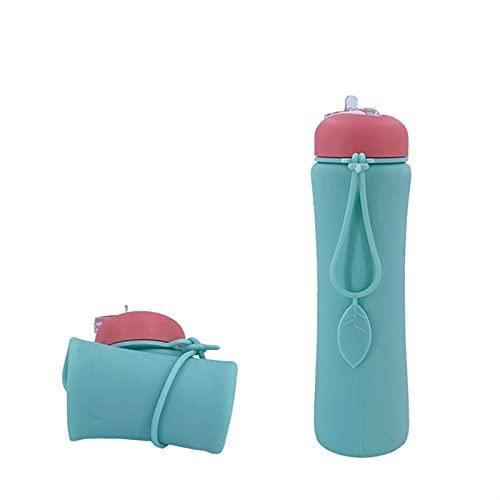 Botella de Agua Plegable 60 0ML Taza plegable de agua plegable de...