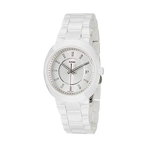Rado Damen-Armbanduhr mit Diamanten D-Star Datum Keramik Analog Quarz R15519702