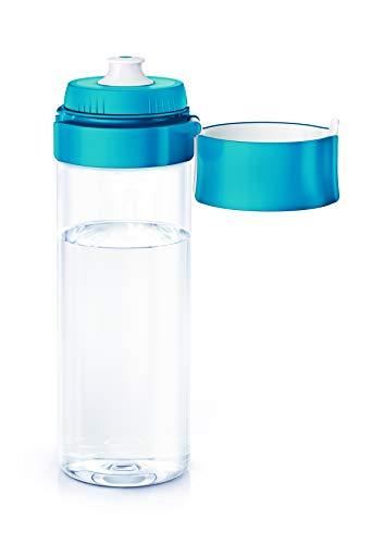 BRITA Wasserfilter-Flasche / Praktische Trinkflasche mit Wasserfilter für unterwegs aus BPA-freiem Kunststoff / Filtert beim Trinken / spülmaschinengeeignet / Farbe: blau