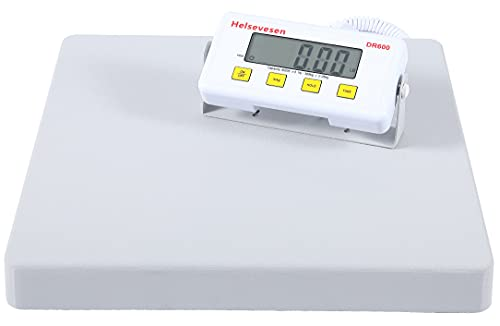 Helsevesen Low-Profile Digital Bariatric Doctor Floor Scale-600 lb Capacity W/Remote Display, Large Platform Physician Scale, Wrestling Scale