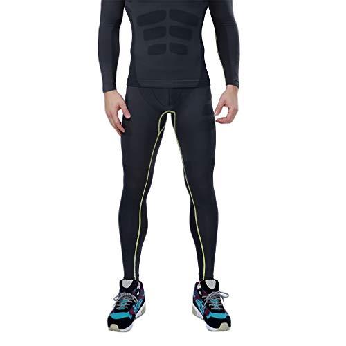 Heren Strakke broek Fitness Running Basislaag Broek Heren Compressie Sport Strakke broek Dry Combat Hoge kwaliteit Zwart en grijs en groen