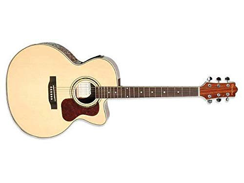 Olveira chitarra acustica jumbo elettrificata spalla mancante - jg600ce