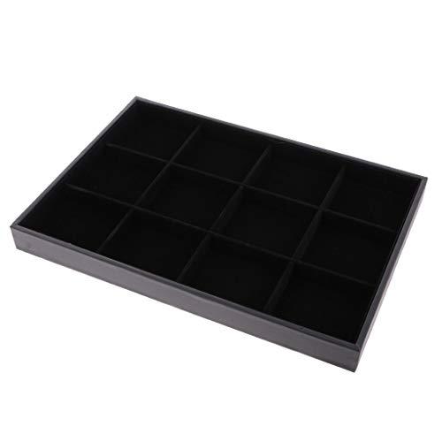 Backbayia Tablett für Halskette/Ring/Ohrringe 12 Grillroste