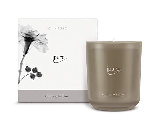 ipuro Classic Duftkerze cachemire - Raumduft mit warmer und wohliger Wirkung - Kerze mit hochwertigen Inhaltsstoffen 270g - Perfekt als Geschenk