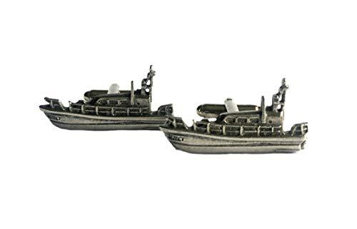 Lifeboat Gemelos de peltre inglés fino (RNLI)