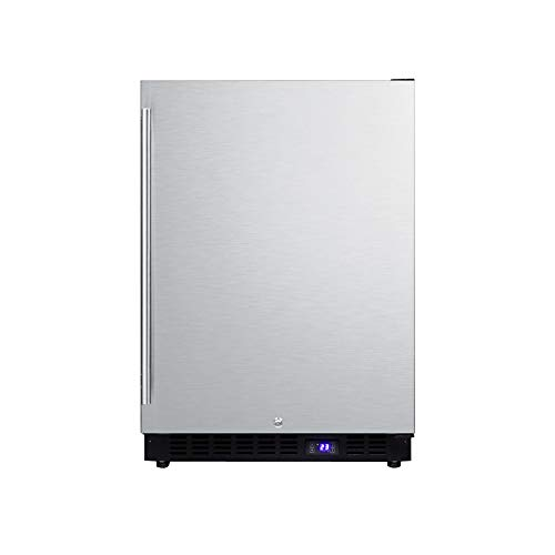 Summit SCFF53BSS Under Counter Upright Freezer, Stainless-Steel