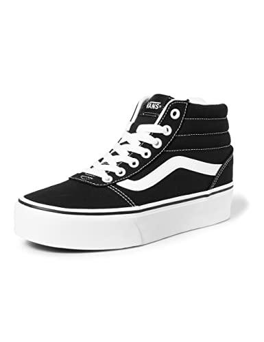 Vans Ward Hi Platform, Sneaker Mujer, Negro ((Canvas) Black/True White 1wx), 37 EU