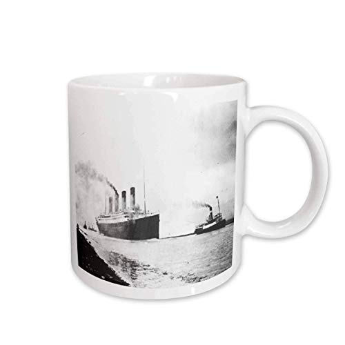Fotografía antigua del Titanic con taza Trial Run de 11 onzas
