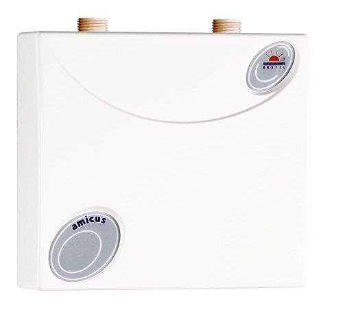 Kospel EPO.D1-6 AMICUS Durchlauferhitzer Druckfest Untertisch, 6 kW 230V - 400V, Weiß, 22,5 x 22 x 9 cm