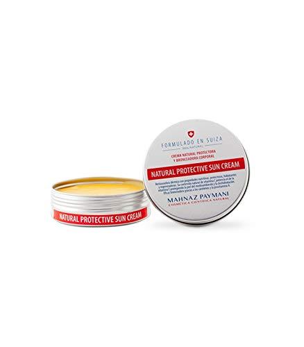 Mahnaz Paymani, Natural Sun Cream 100 Gr - Eficaz Bronceadora Natural Que Evita Quemaduras Solares Y Proporciona Un Bronceado Duradero