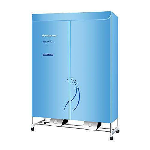 Concise Home Host Dual Secador eléctrico 2000 W de Gran Capacidad 30 kg InoxidableAhorro de energía Ropa húmeda de Interior Aire Caliente Secado Armario