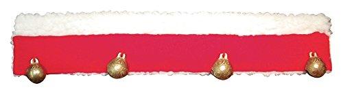 EKKIA Equitazione Festive Christmas Antlers Coperta Bende Campane Saddlepad, Red