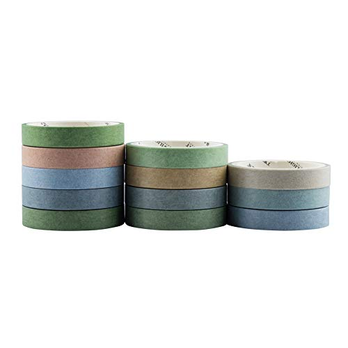Wrapping -Neutral Color- Yubbaex Natural Color Washi Tape Set 4 Rolls Decorative Tapes for Arts Bullet Journals Scrapbooking 1-Green DIY Crafts Planners
