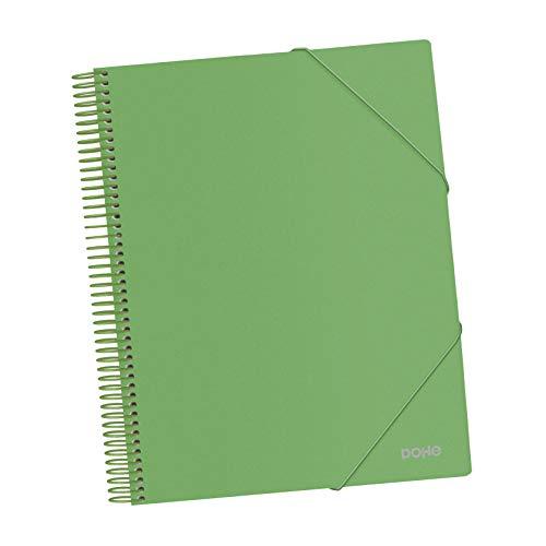 Carpeta de espiral - 30 fundas de 80 micras - Verde