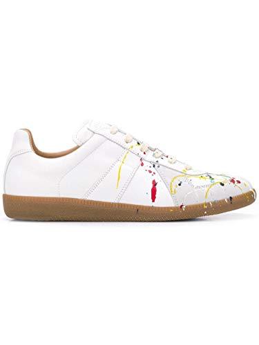 Maison Margiela Luxury Fashion Uomo S57WS0240P1892961 Bianco Pelle Sneakers   Stagione Permanente