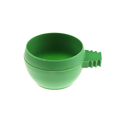 Oranmay Mini Parrot Food Water Bowl Feeder Plastic Pigeons Birds Cage Sand Cup Feeding