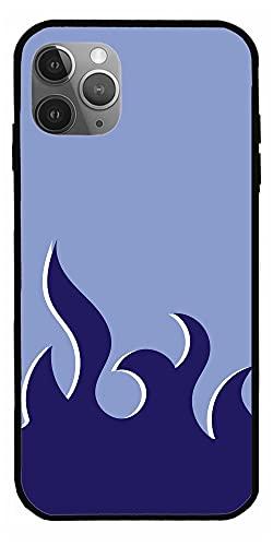 Background Blue Fire Flame Lover Art High Fashion Cajas del Teléfono iPhone Samsung Xiaomi Redmi Note 10 Pro/Note 9/Poco M3 Pro/Note 8/Poco X3 Pro Funda