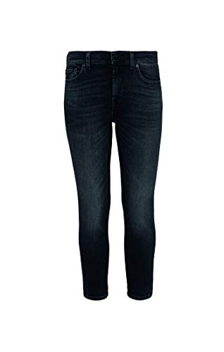 7 For All Mankind Womens Slim Jeans, Dark Blue, 25