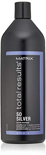 MATRIX Total Results So Silver Conditioner | Hydrates Dull, Blonde & Silver Hair | For Color Treated Hair | 33.8 Fl. Oz.