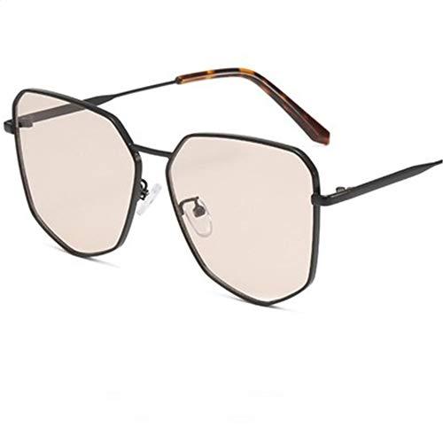 XDJ Gafas de Sol 2020 Nuevo Polígono Gafas De Sol, Moda Tendencia Metal Gafas De Sol, Personalidad De Los Hombres Película Oceánica Hembra Retro Salvaje