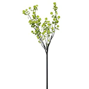 108″ Silk Snowball Tree Branch Flower Stem -Green (Pack of 2)