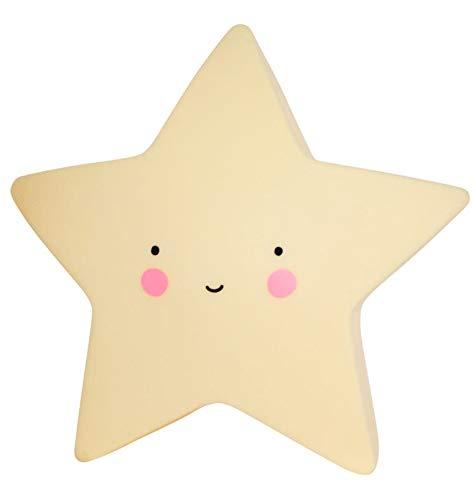 A Little Lovely Company Quitamiedos Estrella - Lámpara, color amarillo