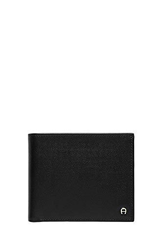 Aigner Portemonnaie 152681 , Querformat schwarz