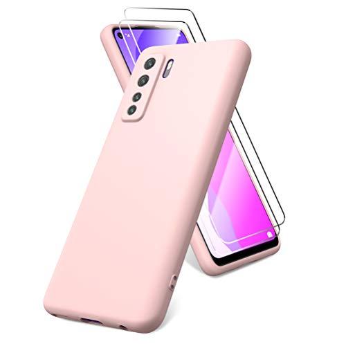 All Do Funda para Huawei P40 Lite 5G, Protector Pantalla Cri