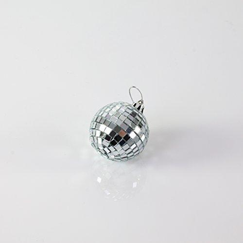 showking–Kleine Bola de Discoteca glix con Real facetas de Cristal, 5cm de diámetro, Plata–Disco Ball los años Ochenta/Bola de Espejos