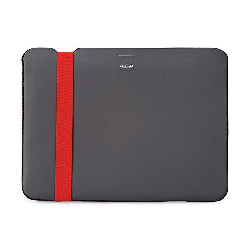"""Acme Made Skinny Sleeve L, dünne Neopren Schutzhülle für Laptops, Notebookhülle mit 14-15 Zoll, passend für MacBook Pro 15\"""", Acer Chromebook 14, Lenovo Thinkpad und viele mehr, grau/orange"""
