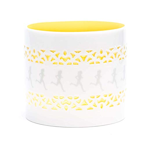 Gone For a Run Candle Holder   Illuminated See-Through Candle Holder   Runner Girl