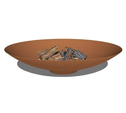 Round Wood Trading Adezz 100cm Corten Steel Fire Pit/Fire Bowl/Garden Heater