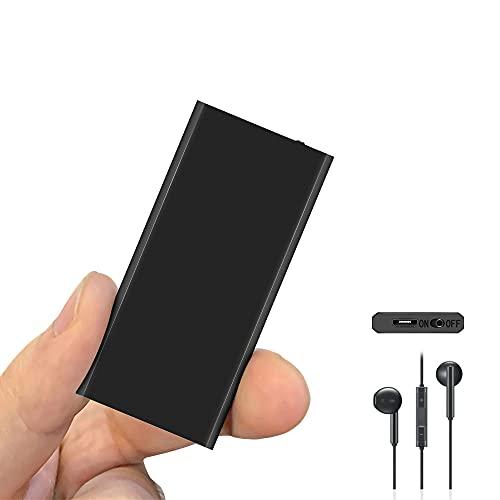 Mini Registratore Vocale con Attivazione Vocale, Vocale Registratore Portatile Memoria da 16GB, Ricaricabile USB Ideale per Lezioni, Interviste, Riunioni