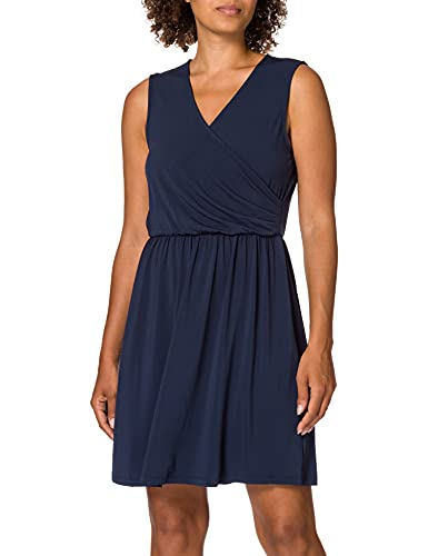 VERO MODA Damen Vmhaidy Sl Short Dress JRS Kleid, Navy Blazer, S