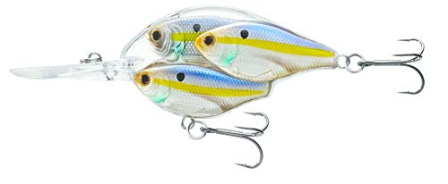 LiveTarget Threadfin Shad Juvenile Bait Ball Squarebill with #6 Medium Dive, Pearl/Violet Shad