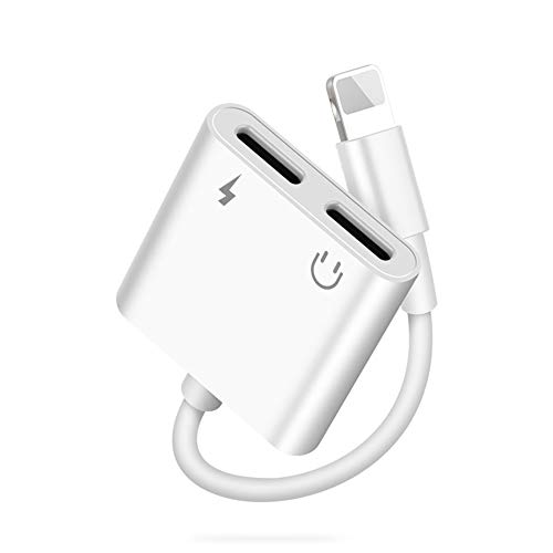 Headphone Adapter for iPhone 12 to Headphone Cable Jack Dual interface Dongle Adaptor Converter Accessories Compatible with iPhone 12/11/11 Pro/Xs MAX/XR/X/8/8 Plus/7/ipad/iPod Support All iOS System